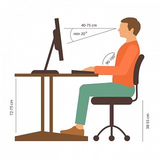 Follow Right Posture While Working On Computer Screen